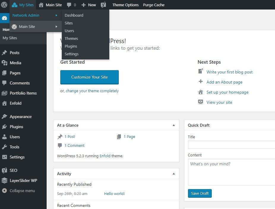 WordPress Network Administration